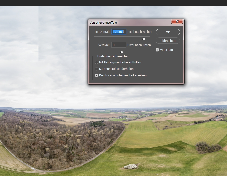Panorama-korrektur